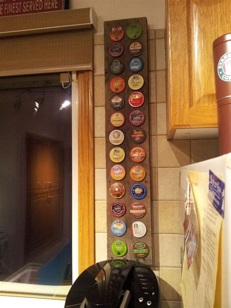 K-Cup Holder made from an old wooden pallet
