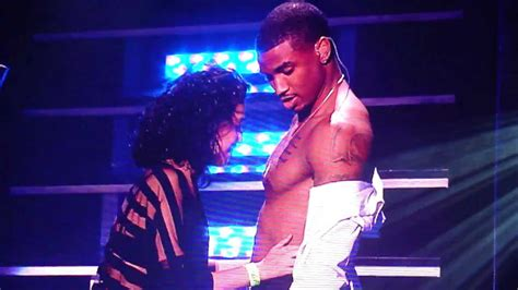 Fan kisses Trey Songz chest on Anticipation 2our at
